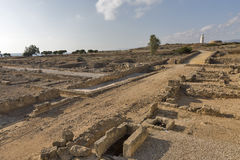 Archaeological site of Kato Paphos, Cyprus. Royalty Free Stock Images