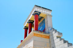 Archaeological site of Knossos. Minoan Palace. Cre Royalty Free Stock Images