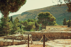 Archaeological site: Knossos Palace of king Minos, Crete, Greece Royalty Free Stock Images