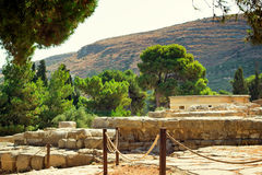 Archaeological site: Knossos Palace of king Minos, Crete, Greece Royalty Free Stock Photography