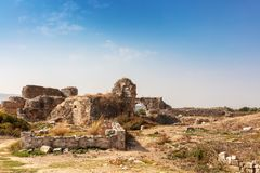 The archaeological site of Miletus an ancient Greek city on the western coast of Anatolia. stock photography