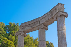 Archaeological Site of Olympia, Greece. Royalty Free Stock Photos