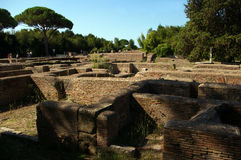 Archaeological site of Ostia,Rome. royalty free stock photography