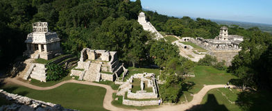 Archaeological site of Palenque Unesco world h Stock Photography