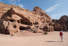 Archaeological site of Petra, Jordan Royalty Free Stock Image