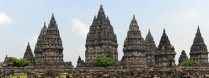 Archaeological site of Prambanan on the island of Java Stock Images