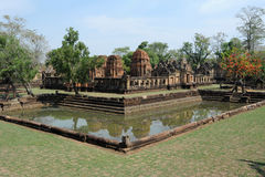 The archaeological site of Prasat Muang Tam Royalty Free Stock Photo