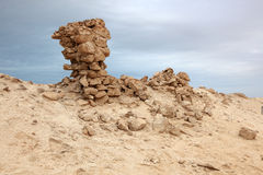 Archaeological site in Qatar Stock Photos
