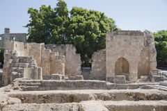 Archaeological site on Rhodes Stock Photos