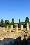 Archaeological site of the Roman city of Italica, Andalusia, Spain Royalty Free Stock Photos