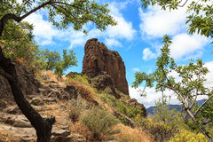 Archaeological site of Roque Bentayga. Gran Canaria. Spain Royalty Free Stock Image