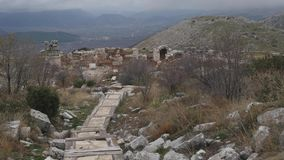 The archaeological site of Sagalassos in Turkey, downtown. The archaeological site of Sagalassos is located in southwest Turkey, in Burdur province stock video