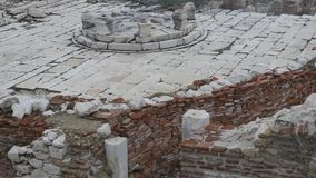 The archaeological site of Sagalassos in Turkey, downtown. The archaeological site of Sagalassos is located in southwest Turkey, in Burdur province. Brickwalls stock video