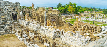 Archaeological site of Side resort Royalty Free Stock Images
