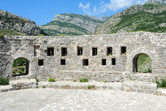 The archaeological site of Stari Bar Stock Image
