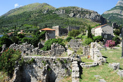 The archaeological site of Stari Bar Stock Images