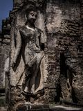 Buddha statue. Archaeological site Sukhothai Kingdom travel thailand Stock Photography