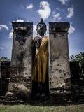 Buddha statue. Archaeological site Sukhothai Kingdom travel thailand Stock Image