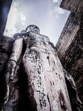 Buddha statue. Archaeological site Sukhothai Kingdom travel thailand Royalty Free Stock Photos