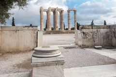 Temple of Olympian Zeus Athens Stock Photos