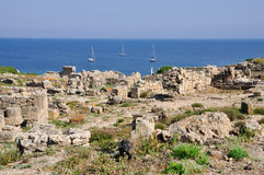 Archaeological site Tharros in Sardinia Royalty Free Stock Photography