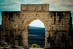 Archaeological site of Volubilis. Volubilis is a Roman ruin located in Morocco Stock Images