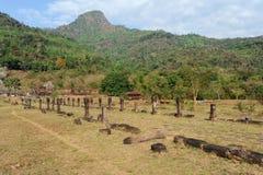 Archaeological site of Wat Phu near Champasak Stock Photo