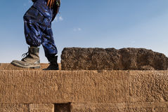 Archaeological site in Yemen Stock Photography