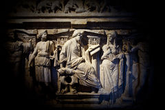Archaeological Statue Detail Royalty Free Stock Photos