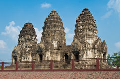 Archaeological Thailand. In beautiful sky royalty free stock image