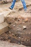 archaeological upptäckt Arkivfoto