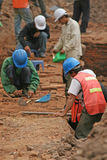 Archaeological work stock photo