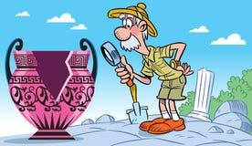 Archaeologist stock illustration