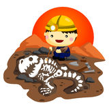 Archaeologist. A man working as a Archaeologist Royalty Free Stock Photo