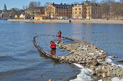 Shipwreck in stockholm Stock Photo