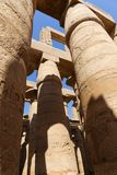 Huge columns of Karnak Temple - Egypt. Archaeology antiques and Egyptian statues at Karnak Temple located at Luxor city, Egypt. 20 September 2017, Luxor Egypt royalty free stock photos