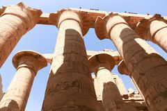 Archaeology of Karnak Temple - Egypt. Archaeology antiques and Egyptian statues at Karnak Temple located at Luxor city, Egypt. 20 September 2017, Luxor Egypt Stock Images