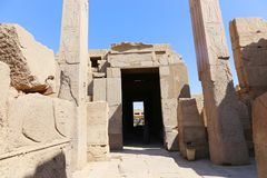 Egyptian two obelisks at Karnak. Archaeology antiques and Egyptian statues at Karnak Temple located at Luxor city, Egypt. 20 September 2017, Luxor Egypt Stock Photo