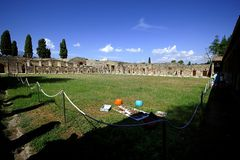 Archaeology findings in Pompeii Royalty Free Stock Photography