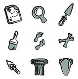 Archaeology Icons Freehand 2 Color. This image is a illustration and can be scaled to any size without loss of resolution vector illustration