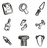 Archaeology Icons Freehand. This image is a illustration and can be scaled to any size without loss of resolution vector illustration