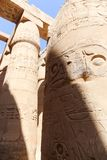 Archaeology of Karnak Temple - Egypt. Archaeology antiques and Egyptian statues at Karnak Temple located at Luxor city, Egypt. 20 September 2017, Luxor Egypt Stock Image