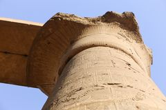 Archaeology of Luxor Temple - Egypt. Day view of Luxor Temple Luxor, Egypt stock images