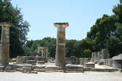 Archaeology in Olympia Royalty Free Stock Photography