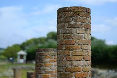 Archaeology pillars two Royalty Free Stock Photo