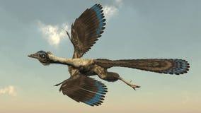 Archaeopteryx birds dinosaurs flying - 3D render Stock Photo