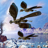 Archaeopteryx Flying Reptiles Royalty Free Stock Photo