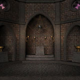 Archaic Altar Or Sanctum In A Fantasy Setting Stock Photo