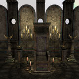 Archaic altar or sanctum in a fantasy setting Stock Images