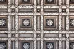 Archaic Marble Flower Ceiling Stock Photography